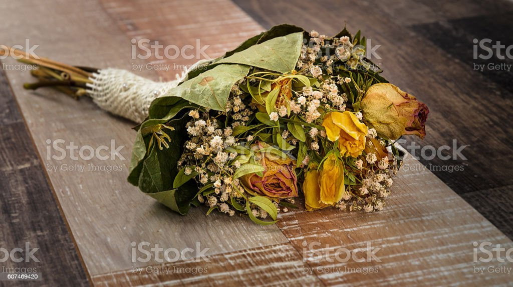Dried flower bouquet stock photo