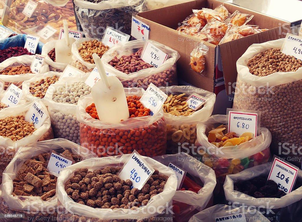 Dried food stock photo