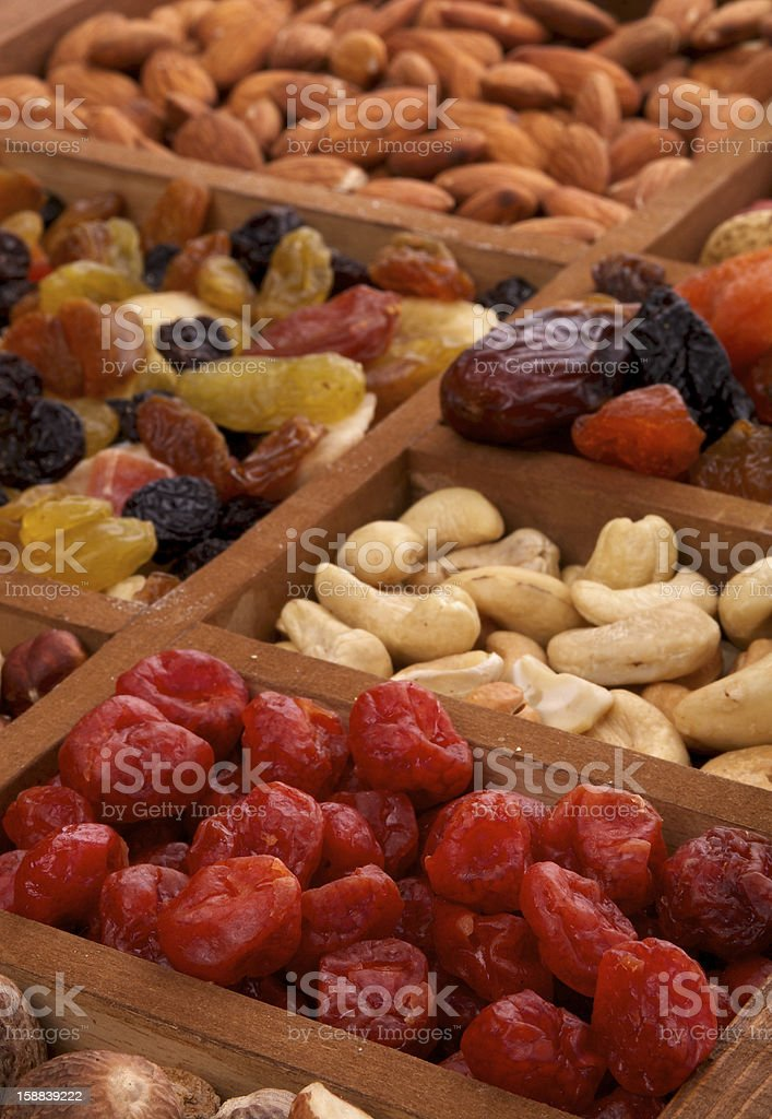 Dried Friits and Nuts royalty-free stock photo