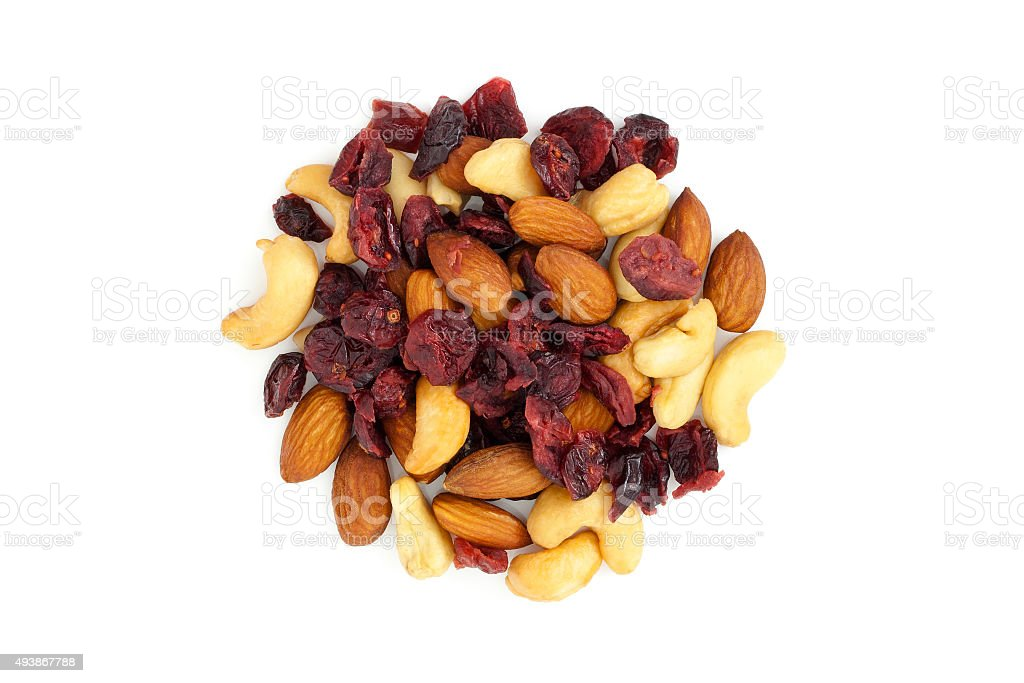 Dried fruit from above stock photo
