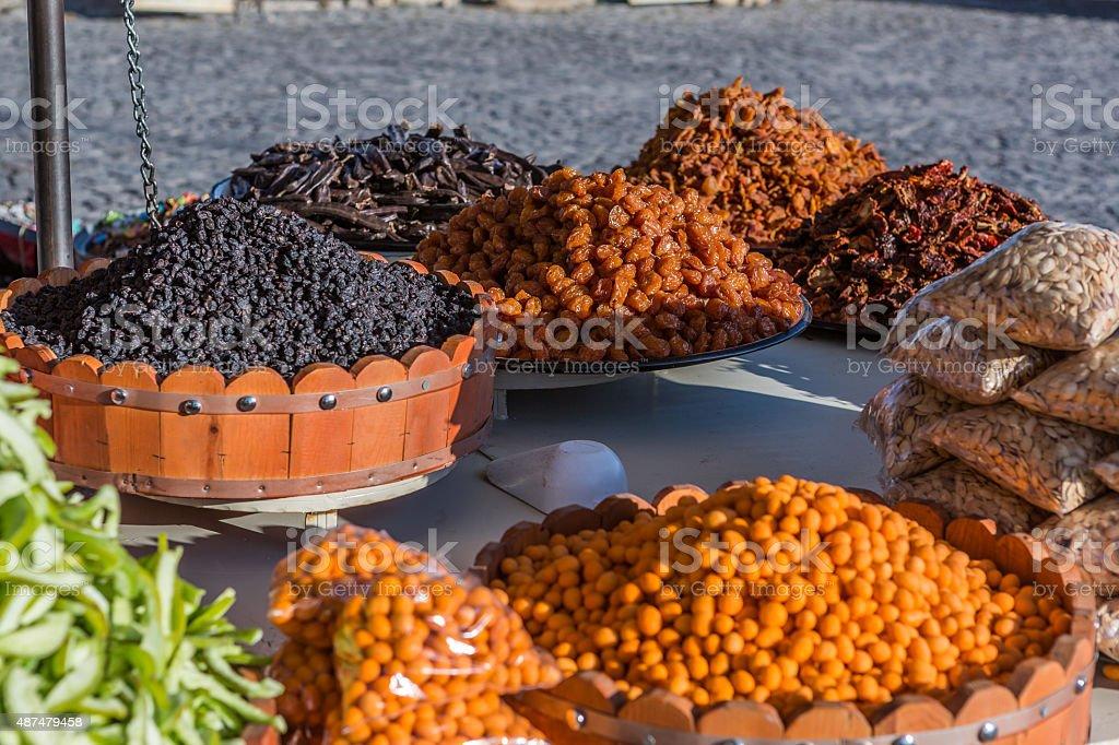 dried fruit mix stock photo