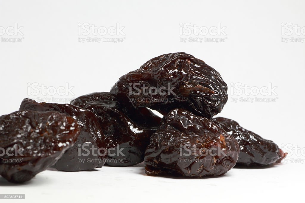 Dried fruit prune stock photo