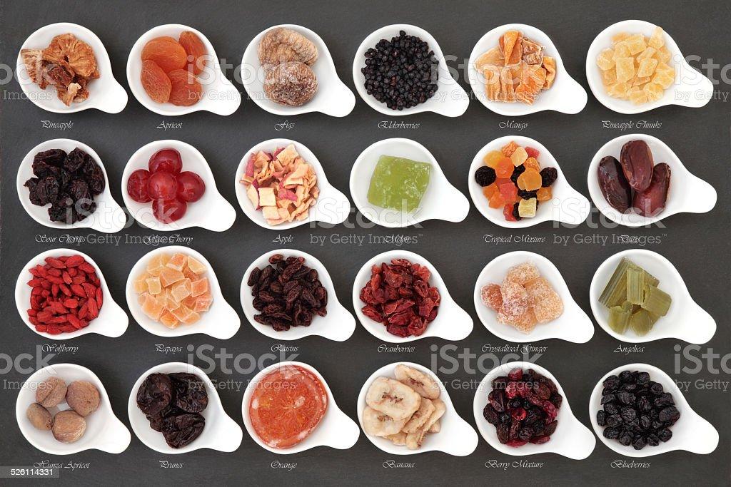 Dried Fruit Sampler stock photo