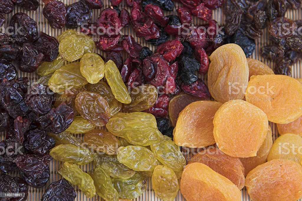 Dried fruit selections royalty-free stock photo