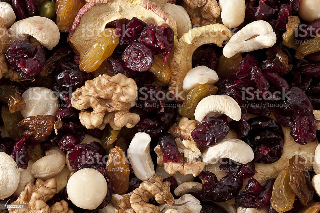 dried fruits close-up stock photo