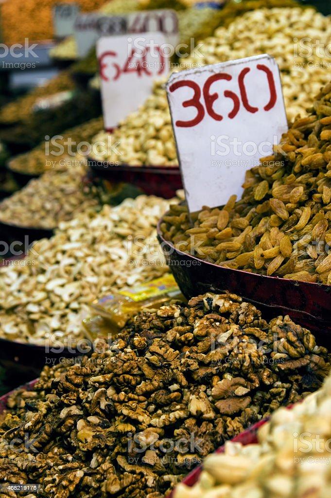 Dried Fruits India stock photo