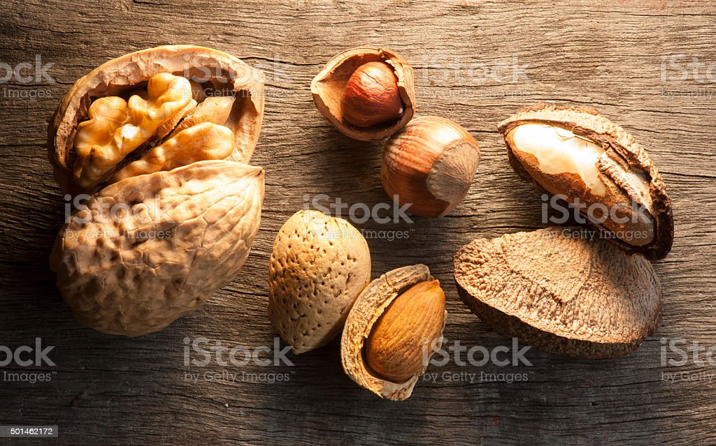 Dried fruits mix stock photo