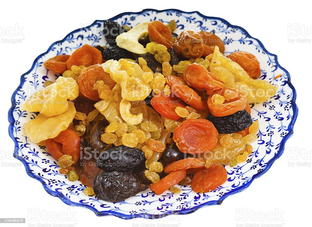 dried fruits on turkish plate royalty-free stock photo