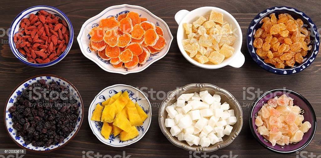 Dried fruits. stock photo