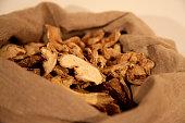 dried ginger sack natural spice vegetarian food