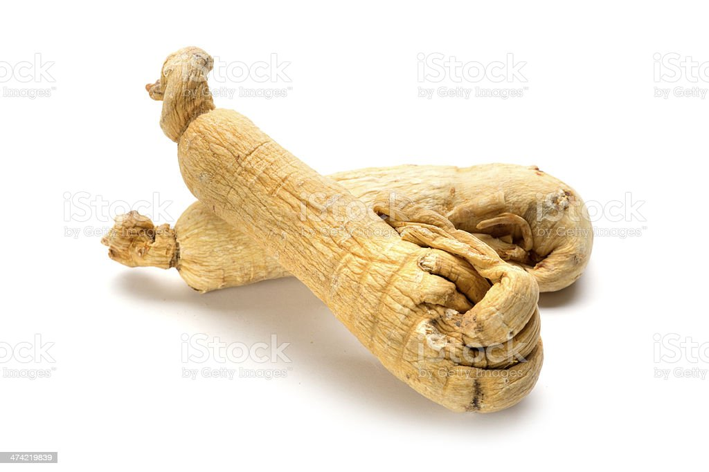 Dried Ginseng stock photo