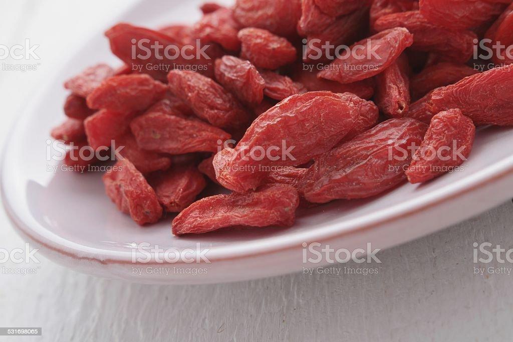 dried goji berries stock photo