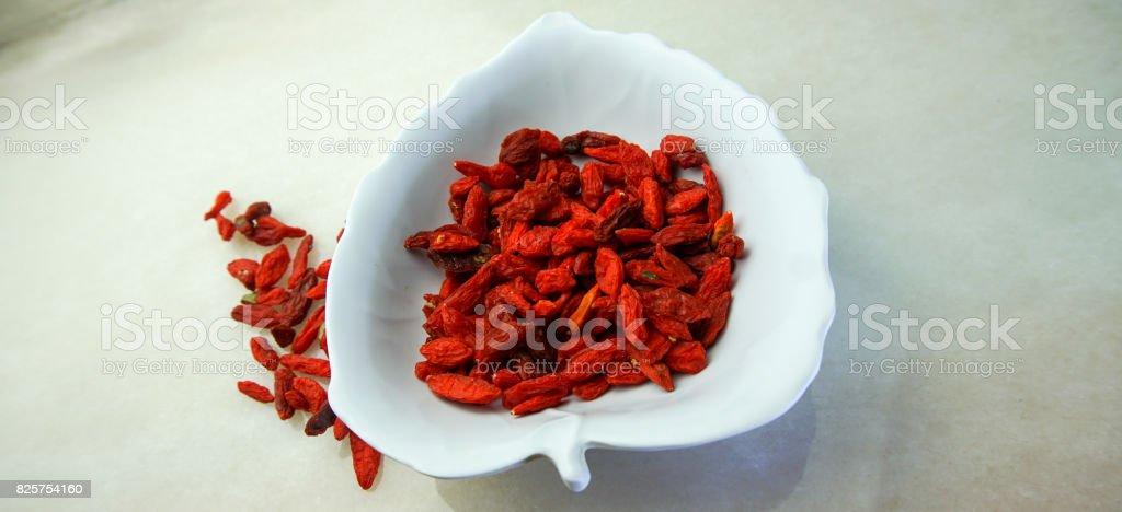 Dried goji. super food stock photo