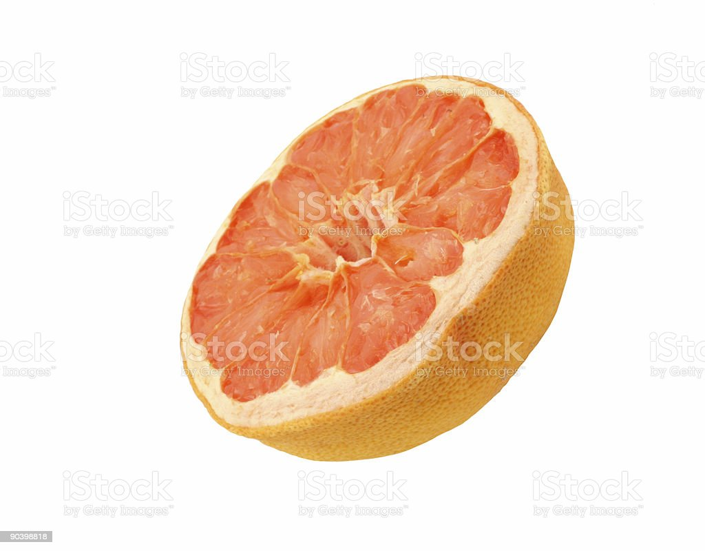 dried grapefruit - isolated royalty-free stock photo