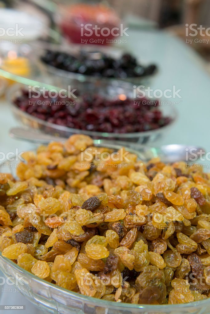 Dried grapes Stock Image stock photo