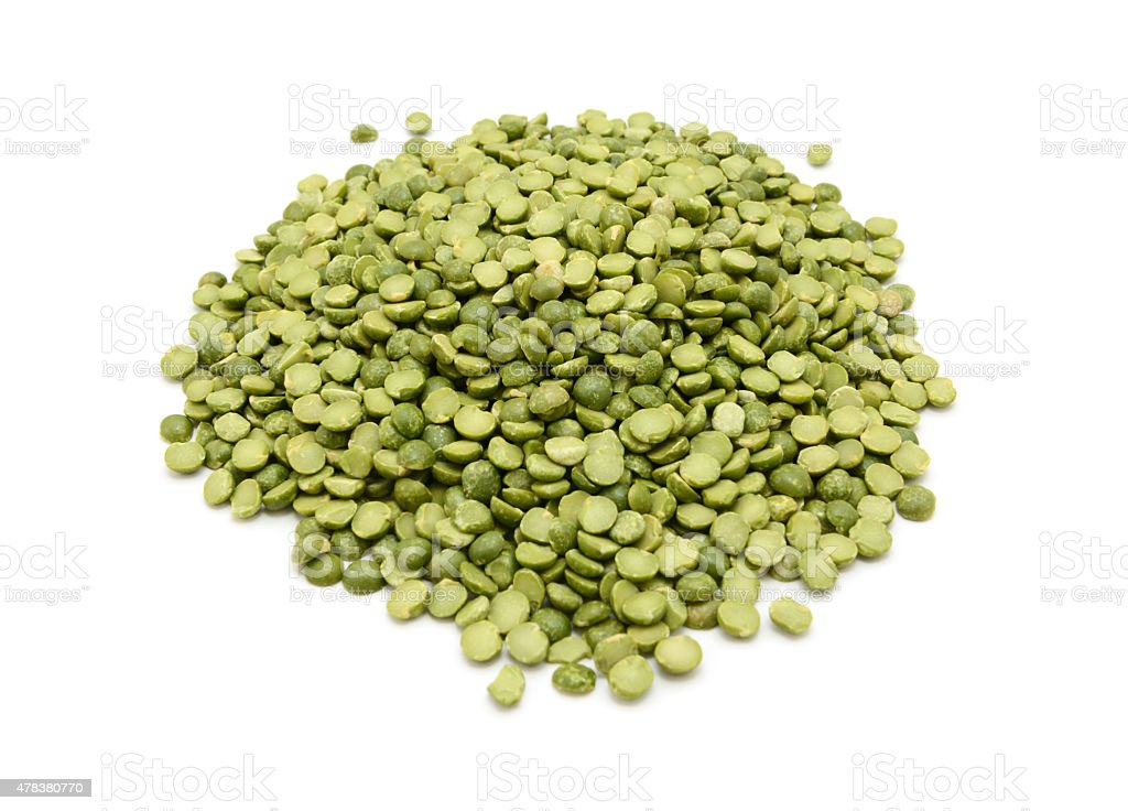 Dried green split peas stock photo