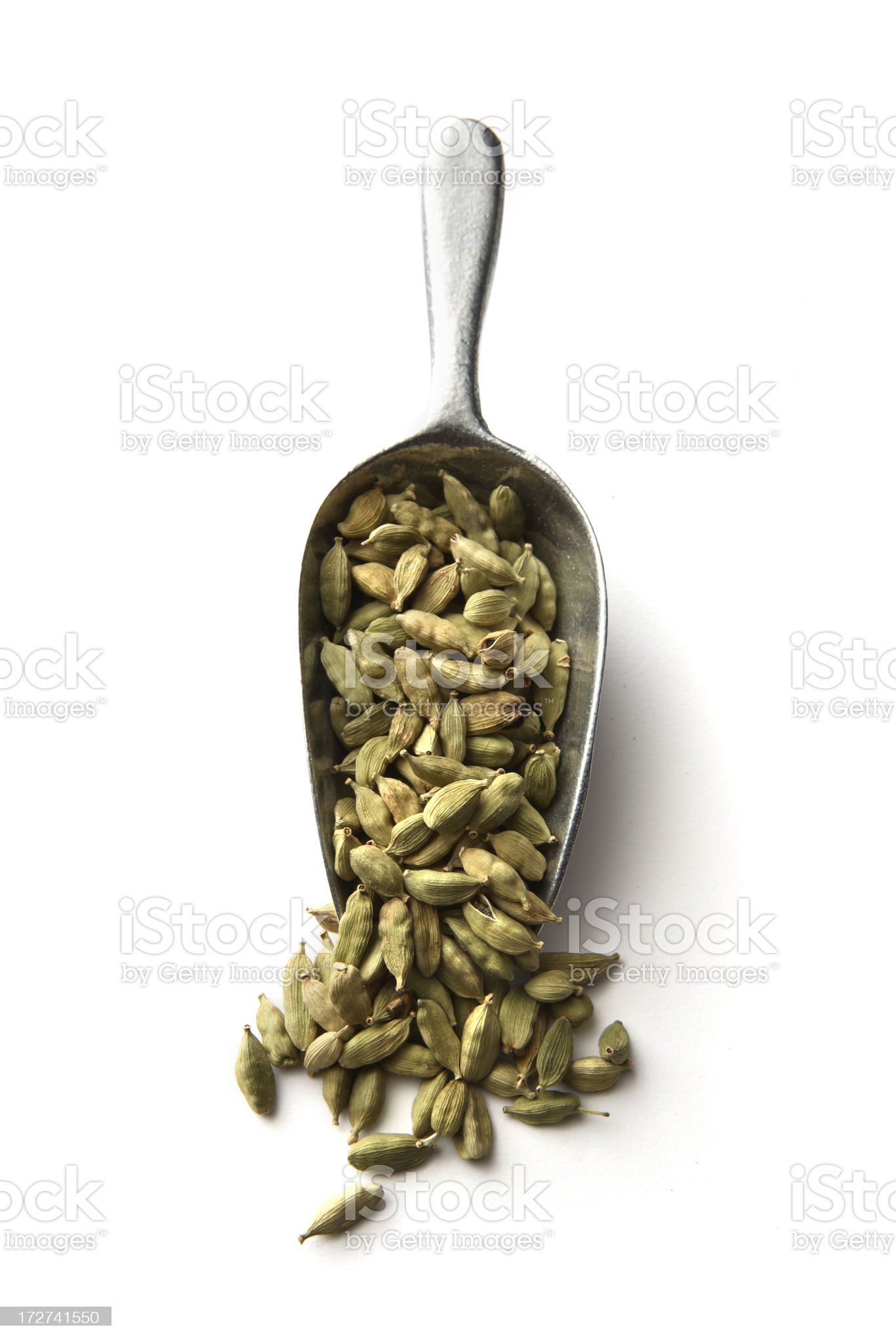 Dried Herbs and Spices: Cardamom royalty-free stock photo