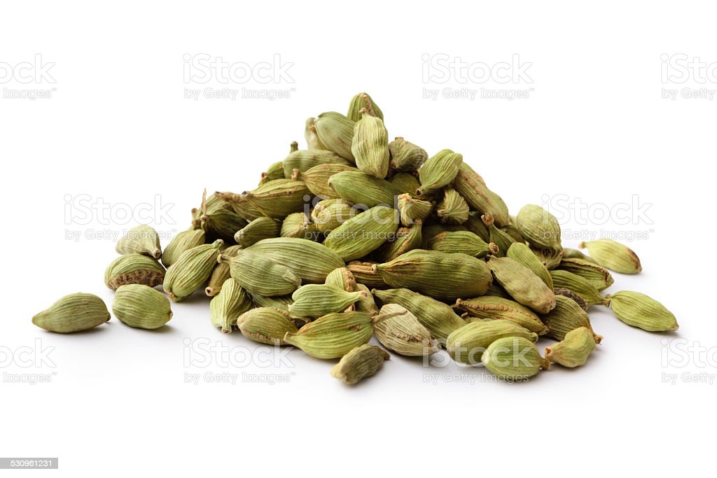 Dried Herbs and Spices: Cardamom stock photo