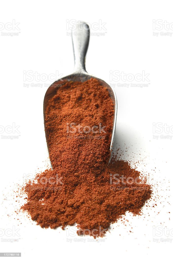 Dried Herbs and Spices: Cayenne Pepper royalty-free stock photo