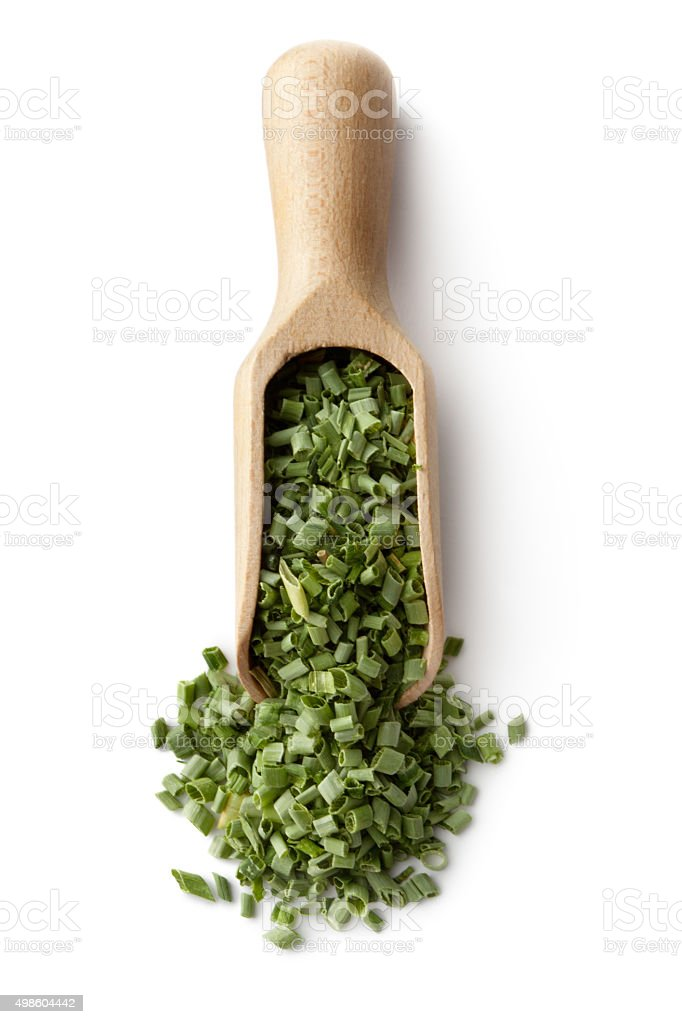 Dried Herbs and Spices: Chives stock photo