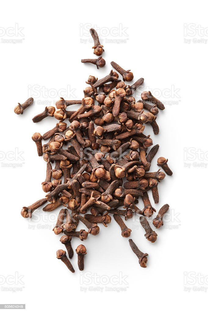Dried Herbs and Spices: Cloves stock photo