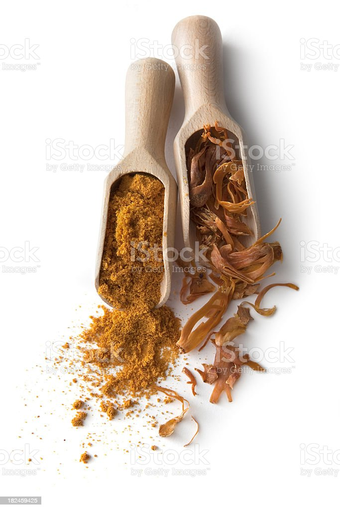 Dried Herbs and Spices: Mace stock photo