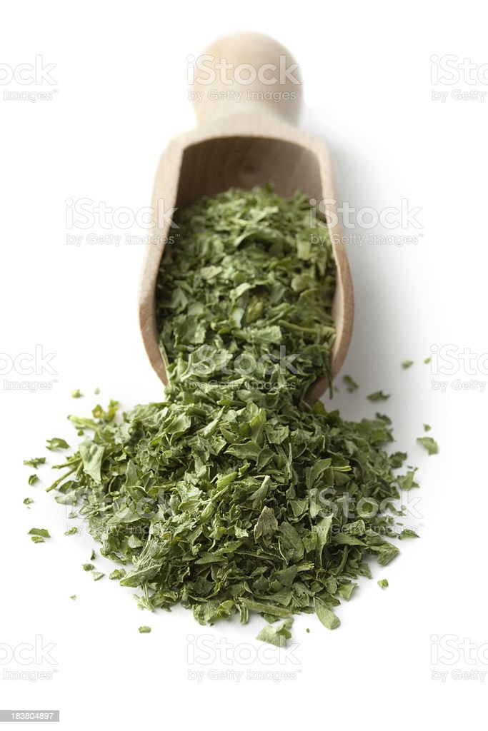 Dried Herbs and Spices: Parsley royalty-free stock photo