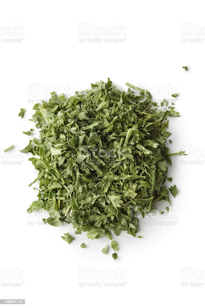 Dried Herbs and Spices: Parsley stock photo