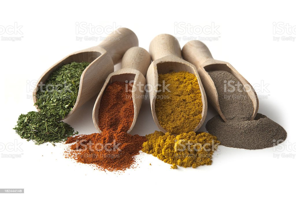 Dried Herbs and Spices: stock photo