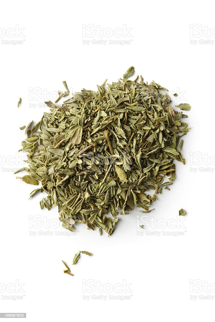 Dried Herbs and Spices: Thyme stock photo