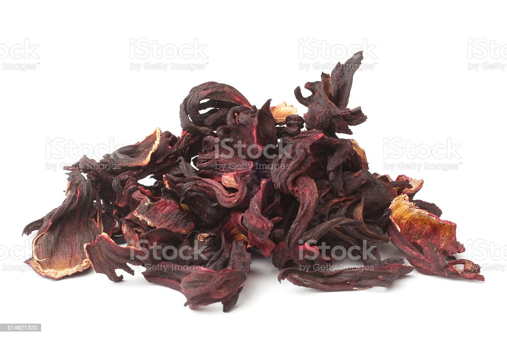 Dried hibiscus calyces stock photo