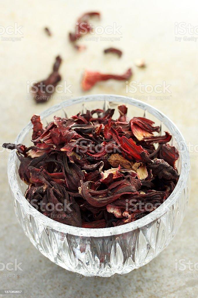 Dried hibiscus tea royalty-free stock photo
