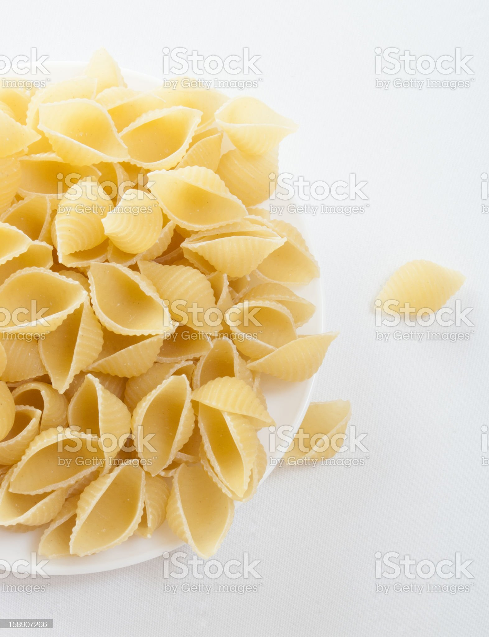dried italian pasta isolated on white background royalty-free stock photo