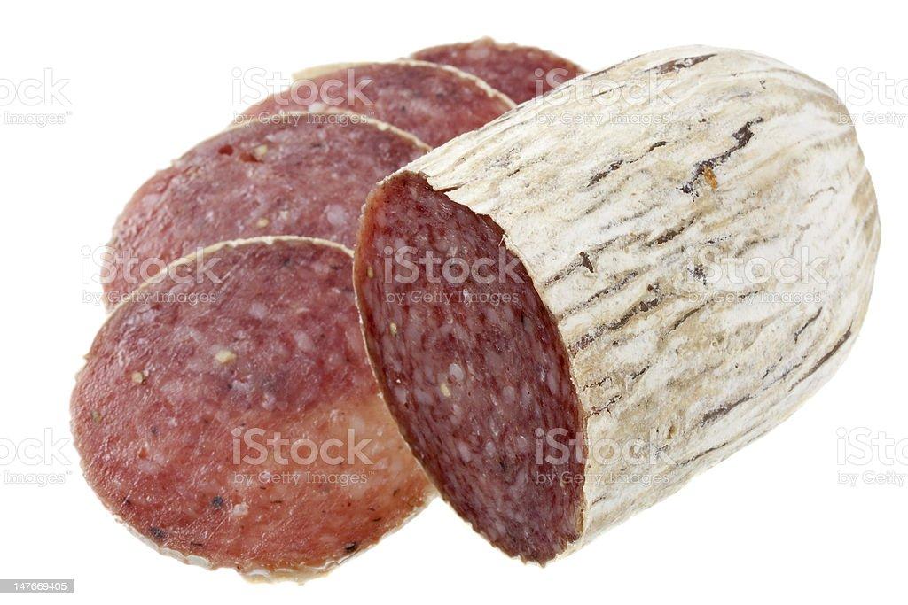 dried Italian salami royalty-free stock photo