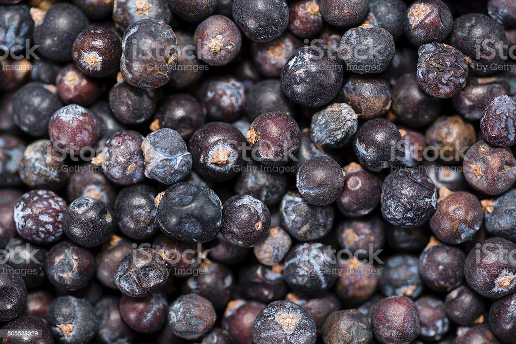 Dried Juniper Berries background image stock photo