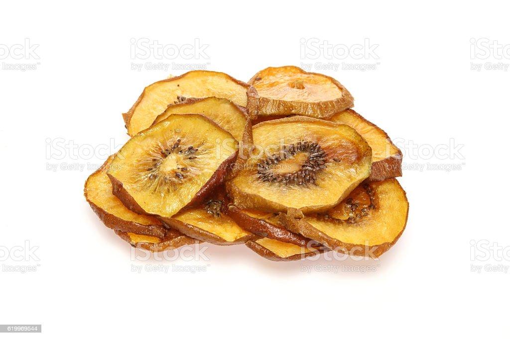 Dried kiwi fruit stock photo