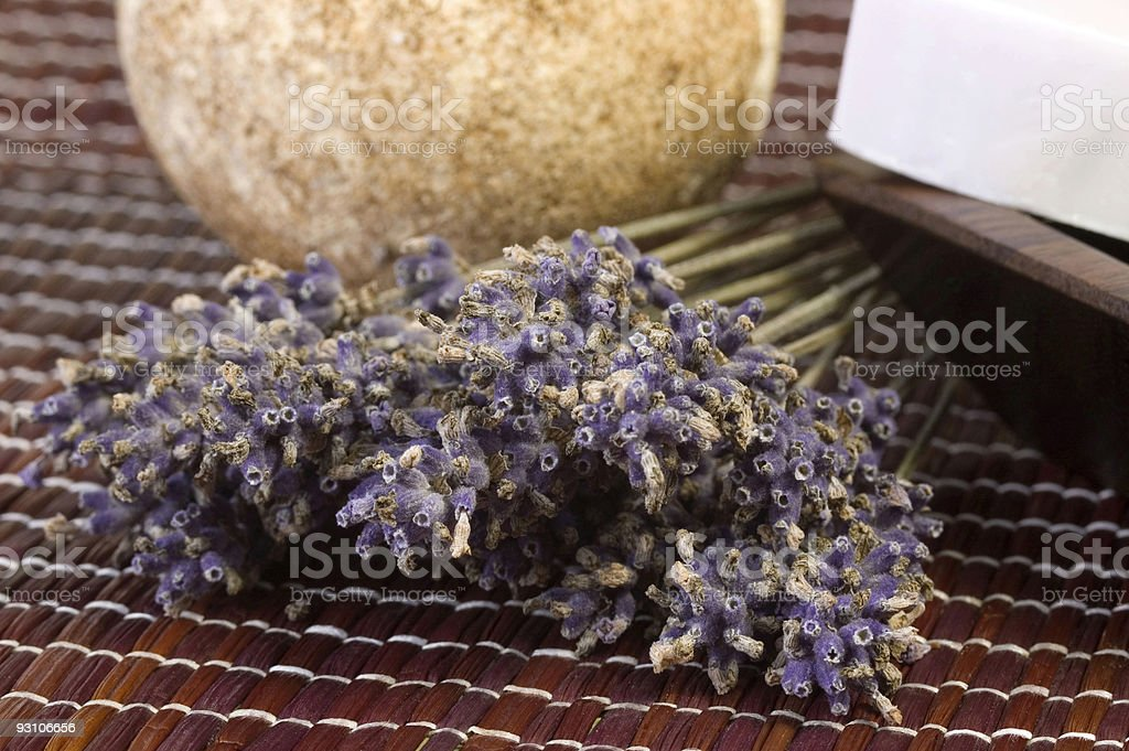 dried lavender and soap royalty-free stock photo