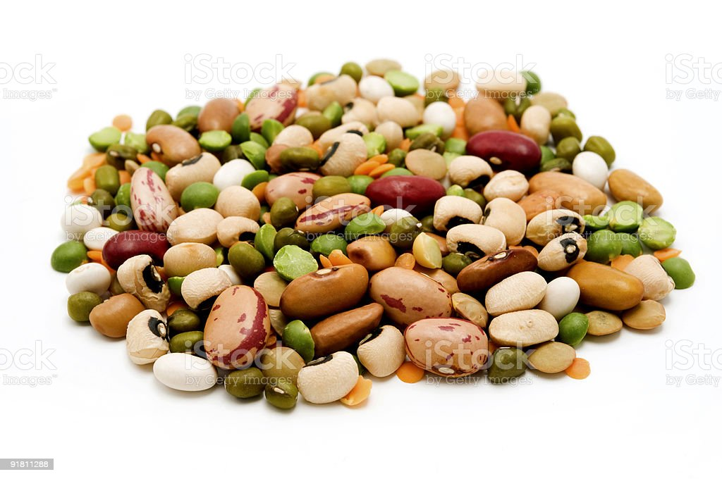 Dried legumes and cereals royalty-free stock photo