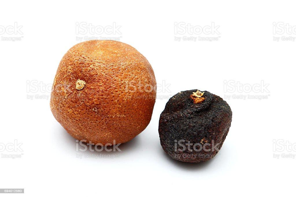 Dried Mandarin stock photo