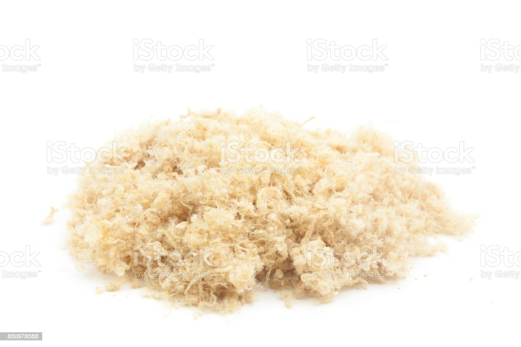 Dried meat floss stock photo