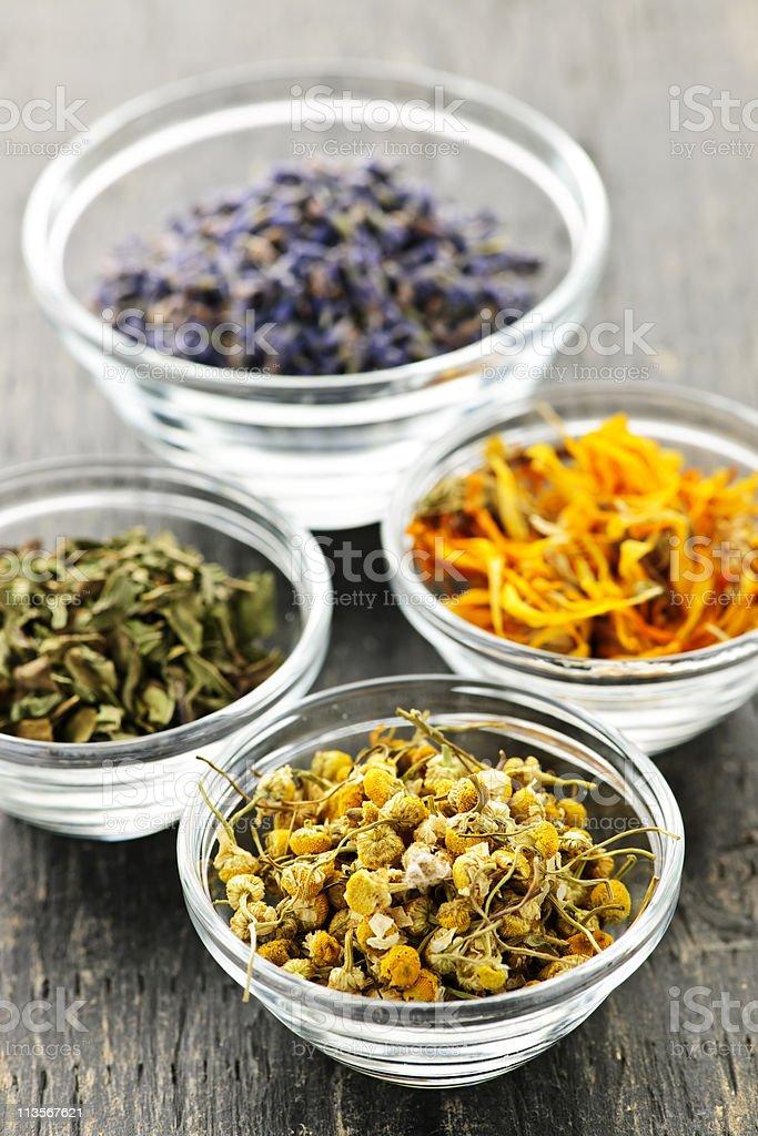 Dried medicinal herbs royalty-free stock photo