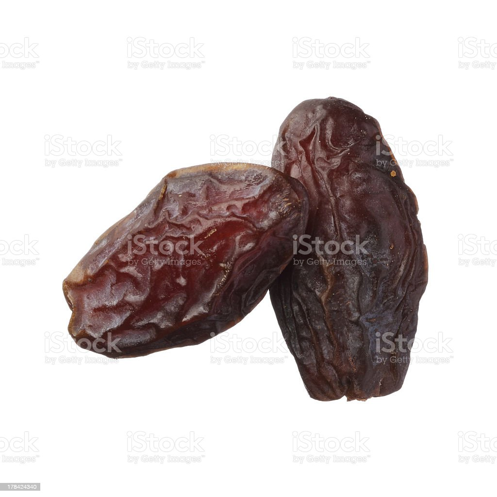 Dried medjool dates isolated on white stock photo