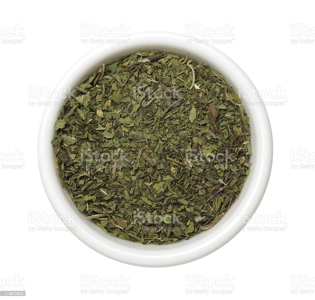 Dried mint stock photo