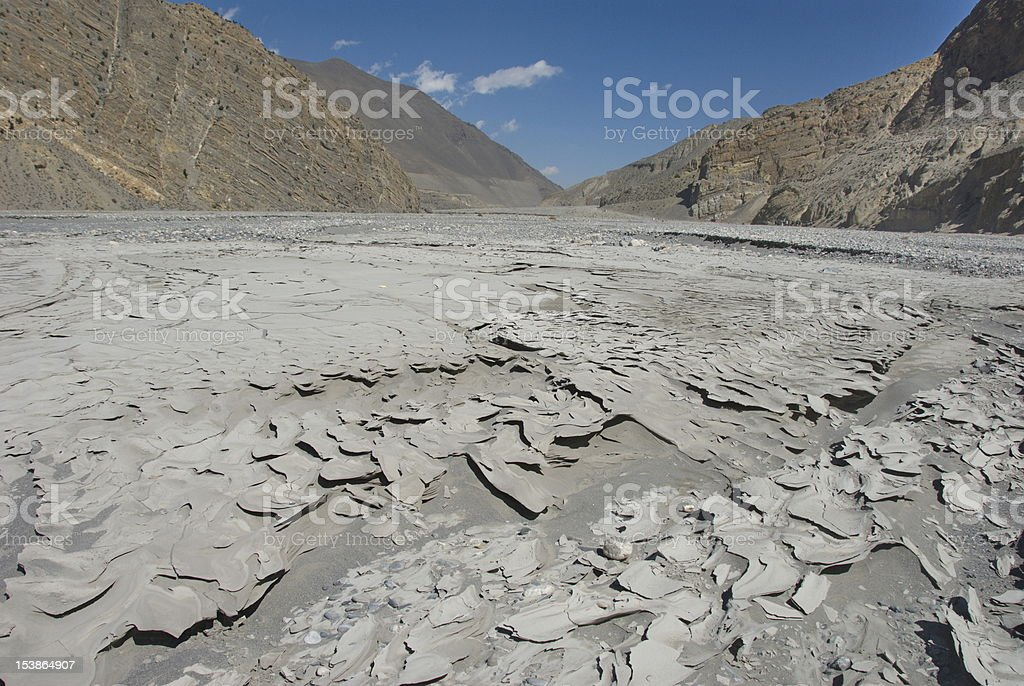 Dried mud royalty-free stock photo