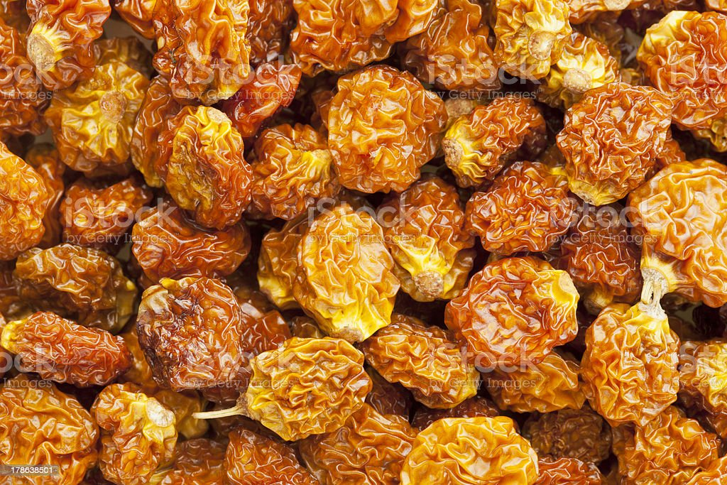 dried organic goldenberry stock photo