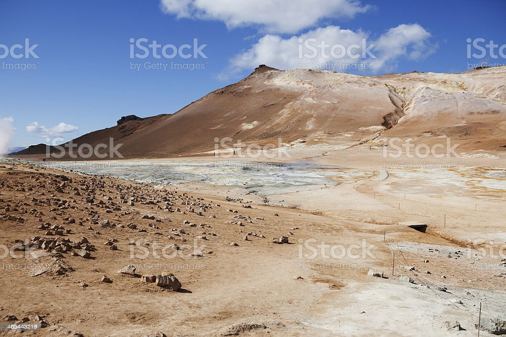 Dried out Earth - Hverir Hot Springs, Iceland royalty-free stock photo