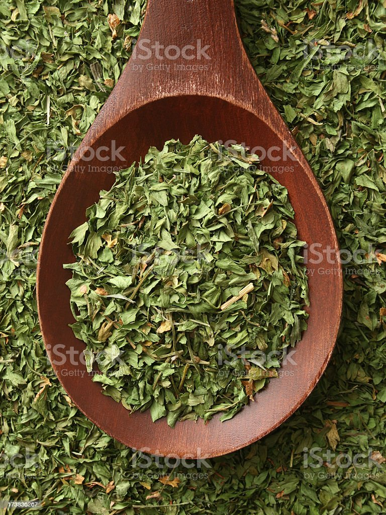 Dried parsley royalty-free stock photo