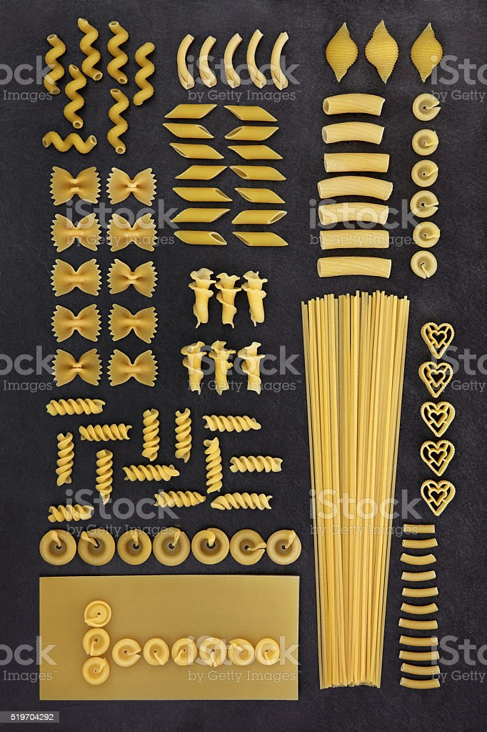 Dried Pasta Abstract Background stock photo
