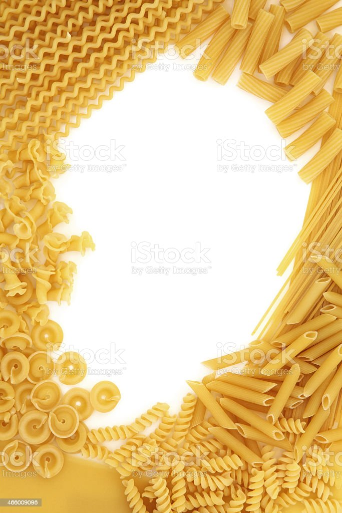 Dried Pasta Border stock photo