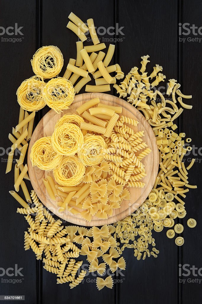 Dried Pasta stock photo